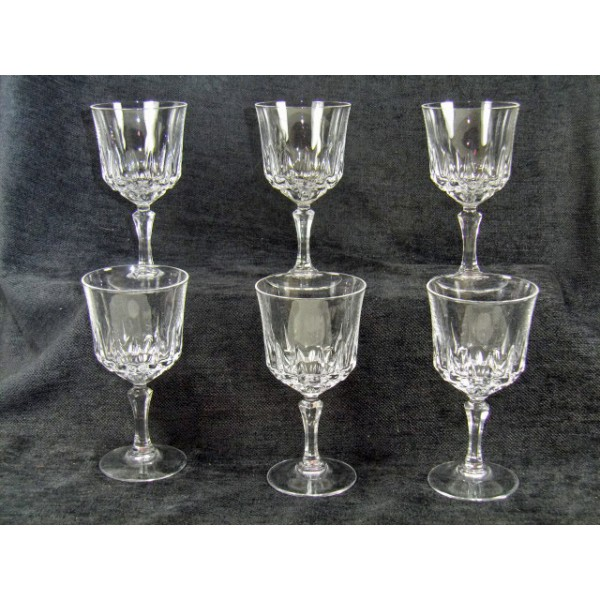 Cristal Darques Verres.Crystal Glasses Model Arques St Germain Brocante