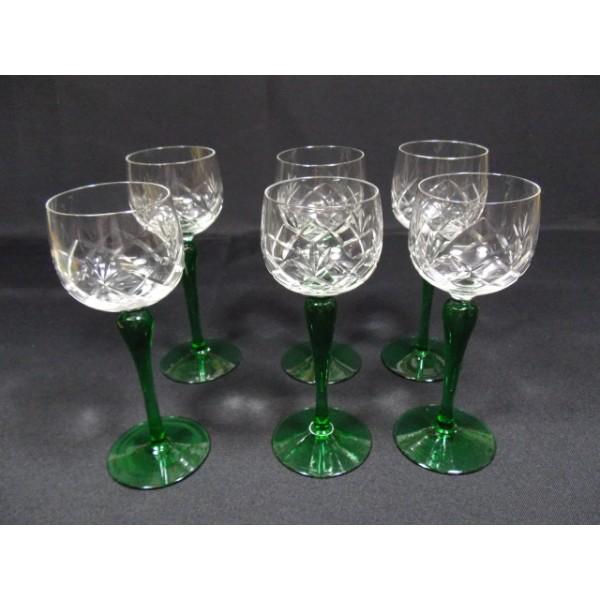 S 233 Rie De 6 Verres 224 Vin Blanc Vin D Alsace En Cristal
