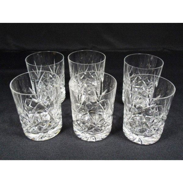 s rie de 5 verres whisky en cristal taill brocante lestrouvaillesdecaroline. Black Bedroom Furniture Sets. Home Design Ideas