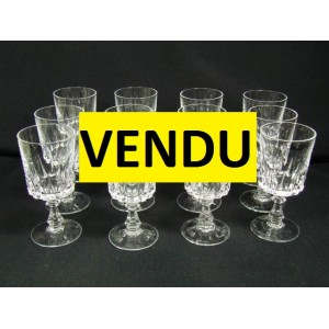 service de 12 verres vin blanc ou vin cuit cristal d 39 arques mod le louvre brocante. Black Bedroom Furniture Sets. Home Design Ideas