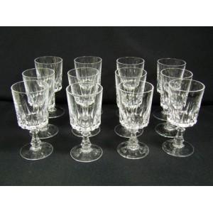 service de 12 verres vin blanc ou vin cuit cristal d. Black Bedroom Furniture Sets. Home Design Ideas