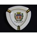 Cendrier en porcelaine de Limoges aux armoiries de la ville