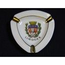 Limoges porcelain ashtray with the coat of arms of the city