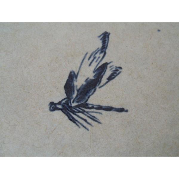 saladier en fa ence ancienne couleur c ladon d cor typique art nouveau bleu brocante. Black Bedroom Furniture Sets. Home Design Ideas