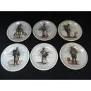 Set of 6 porcelain dessert plates