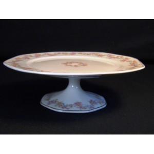 Assiette de présentation en porcelaine Théodore Haviland sur piedouche n°1