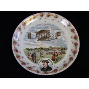 Assiette Digoin et Sarreguemines décor Wilbur Wright