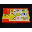 """Jeu de loto """"code de la route"""" vers 1960"""