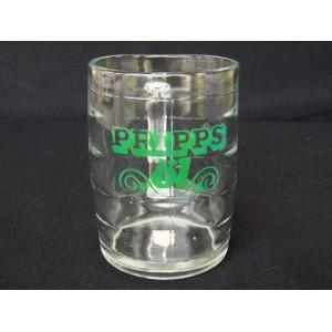 Chope à bière en verre marque Pripps öl