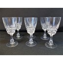 Set of 6 Port glasses in crystal of Arques old model