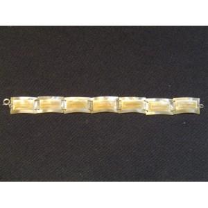 Bracelet gourmette ancien en corne fine