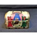 Petite boîte à bijoux en os décor oriental