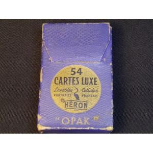 """Jeu de carte ancien marque Héron modèle """"Opak"""""""