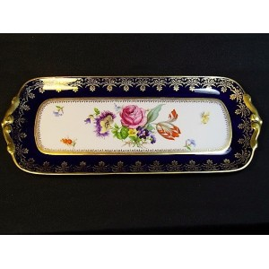 Plat à cake en porcelaine de Limoges