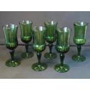 Set of 6 blown glass wine glasses