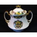 AF Limoges porcelain sugar bowl circa 1900
