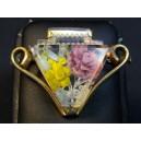Fancy brooch art deco plexiglass