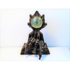 Baromètre en bois sculpté de style forêt noire