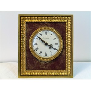 Réveil mécanique Hour Lavigne cadre en bronze doré