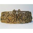 Bracelet ancien en métal doré
