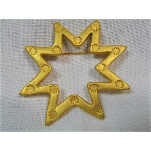 Broche en métal doré Lancôme