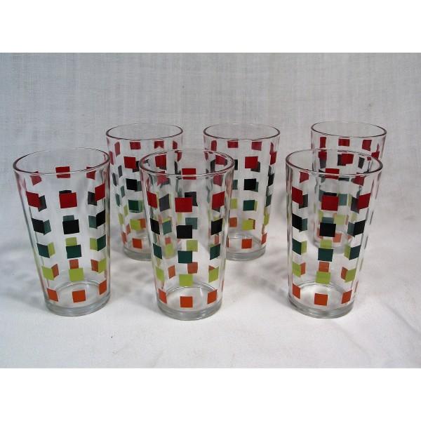 6er verres orangeade Set de blindé d/'eau potable Verres Verres SARMASIK verre