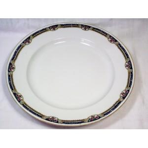 Plat à viande rond en porcelaine de Limoges