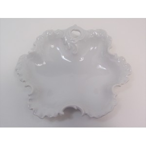 Coupe ou beurrier en porcelaine de Limoges blanche