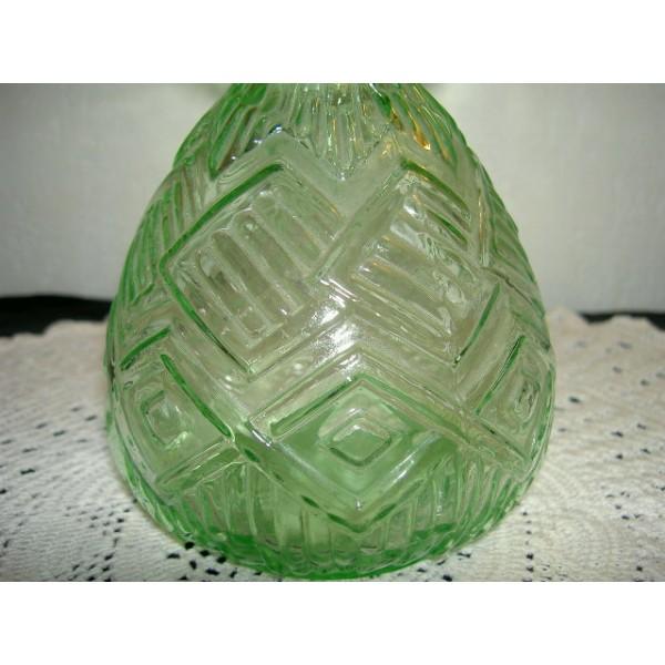 vase jacinthe en verre ancien art d co brocante lestrouvaillesdecaroline. Black Bedroom Furniture Sets. Home Design Ideas
