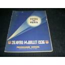 programme officiel fêtes de paris 1936