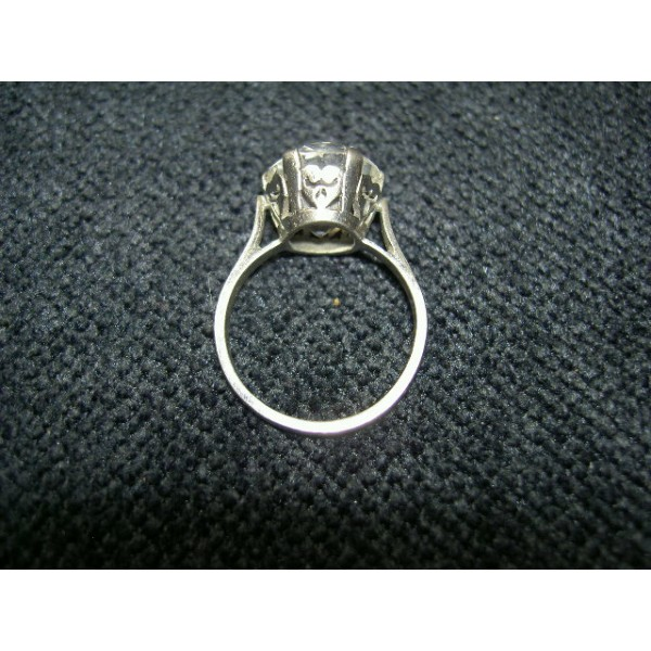 bague ancienne argent cristal solitaire brocante lestrouvaillesdecaroline. Black Bedroom Furniture Sets. Home Design Ideas