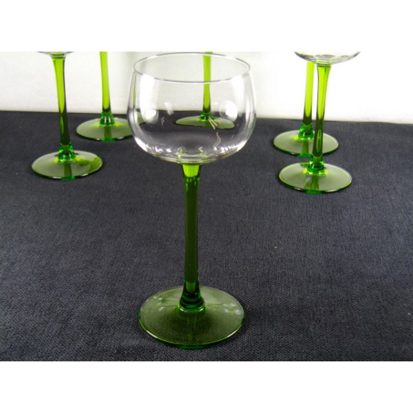 ensembre de 6 verres vin blanc d 39 alsace brocante lestrouvaillesdecaroline. Black Bedroom Furniture Sets. Home Design Ideas
