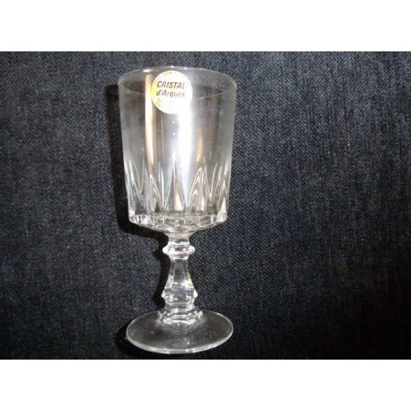set of 6 water glasses crystal arques model louvre