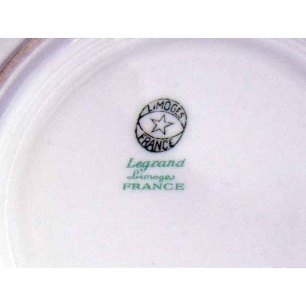 sick cup and saucer porcelain limoges limoges france marked legrand brocante. Black Bedroom Furniture Sets. Home Design Ideas
