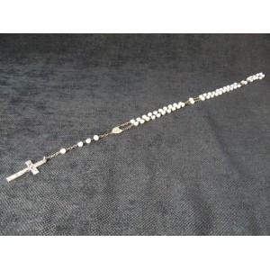 Chapelet ancien en perles de verre irisées