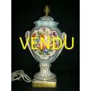 Vase de mariée anse et couvercle en porcelaine de Paris 19ème