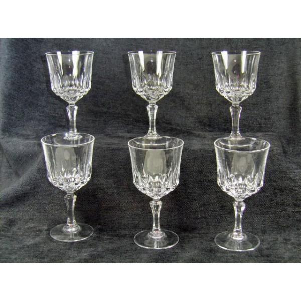 crystal glasses model arques st germain brocante lestrouvaillesdecaroline. Black Bedroom Furniture Sets. Home Design Ideas