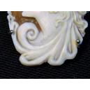 Broche pendentif Camée coquillage monté sur argent